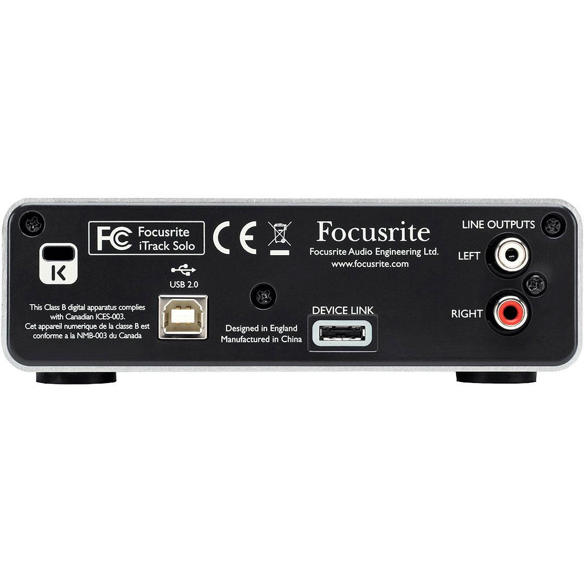Placa de Som Externa USB (comp. iPad) iTrack Solo - Focusrite