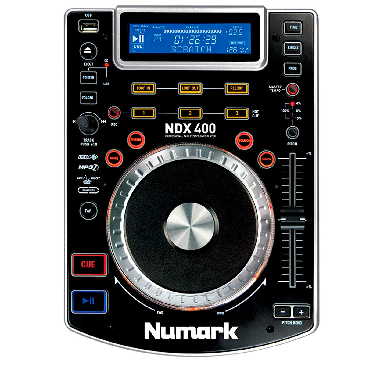 CDJ Player c/ USB NDX 400 - Numark