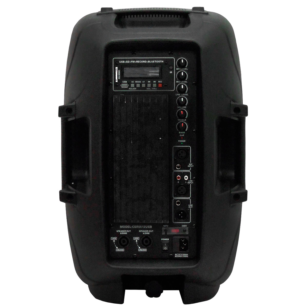 Caixa Ativa Fal 12 Pol 200W c/ USB / Bluetooth - CSR 5512 USB BT