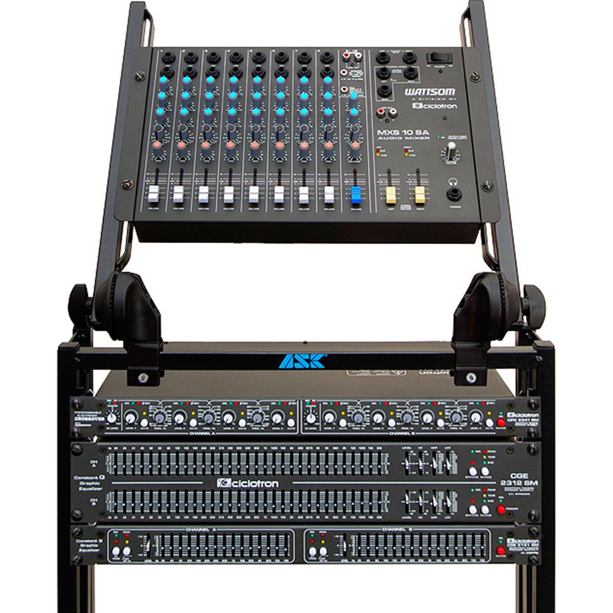 Mesa de Som 10 Canais (8 P10 Desbalanceados + RCA) c/ 1 Auxiliar - MXS 10 SA Ciclotron