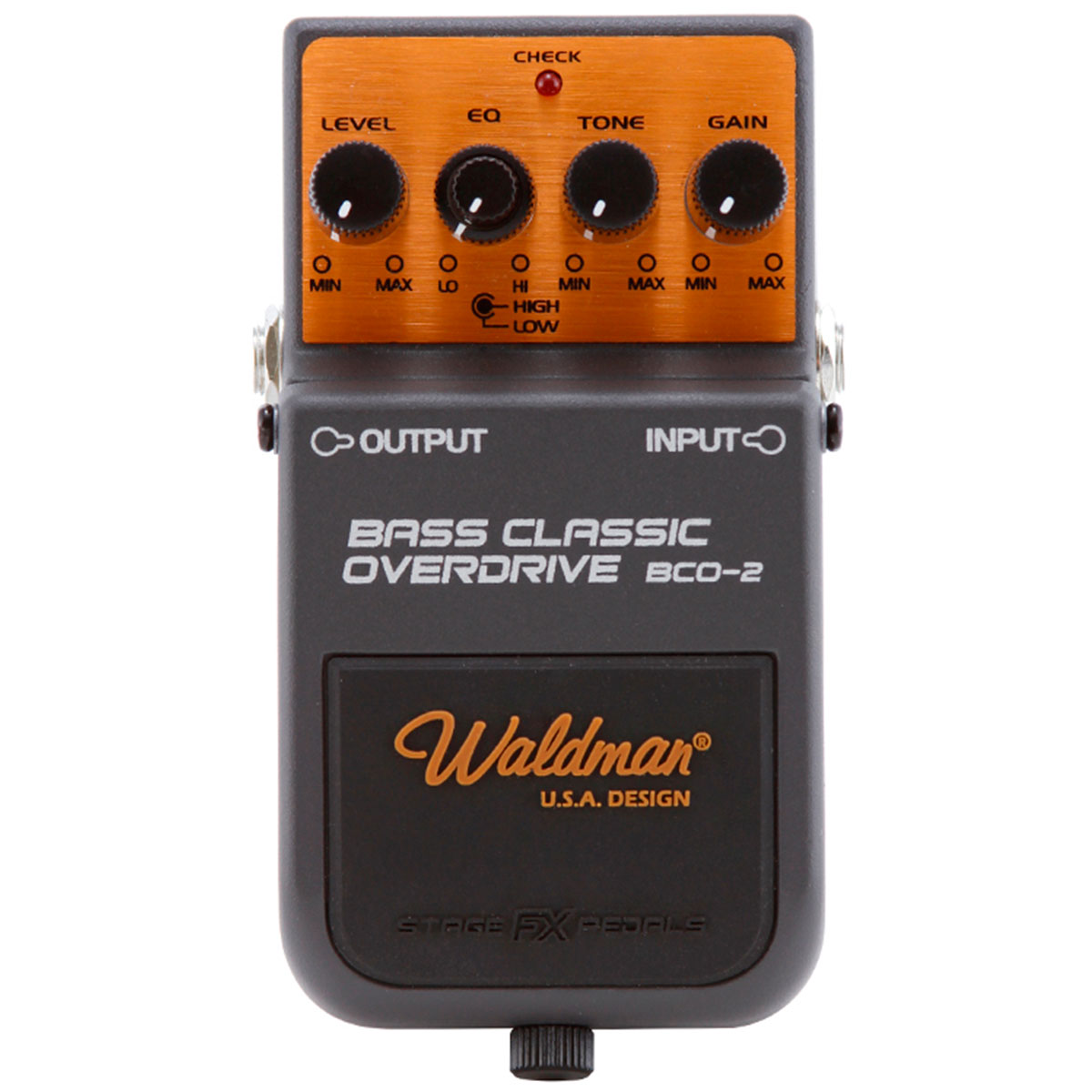 BCO2 - Pedal Contrabaixo Bass Classic Overdrive BCO 2 - Waldman