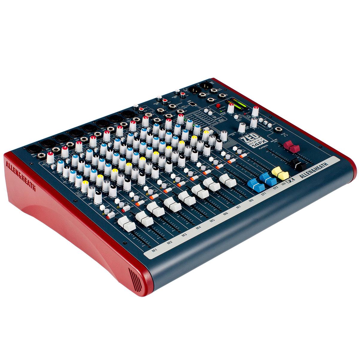 Mesa de Som 8 Canais XLR Balanceados c/ USB / Efeito / Phantom / 1 Auxiliar - ZED 60 14 FX Allen Heath