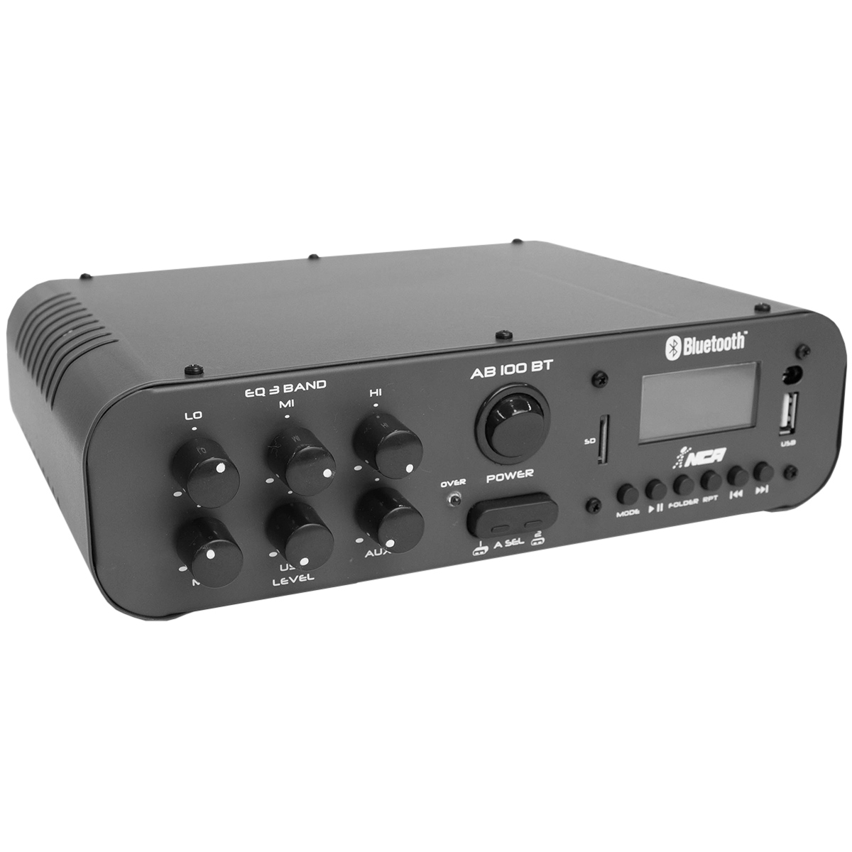 Amplificador Som Ambiente 100W 4 Ohms c/ USB / Bluetooth - AB 100 BT NCA