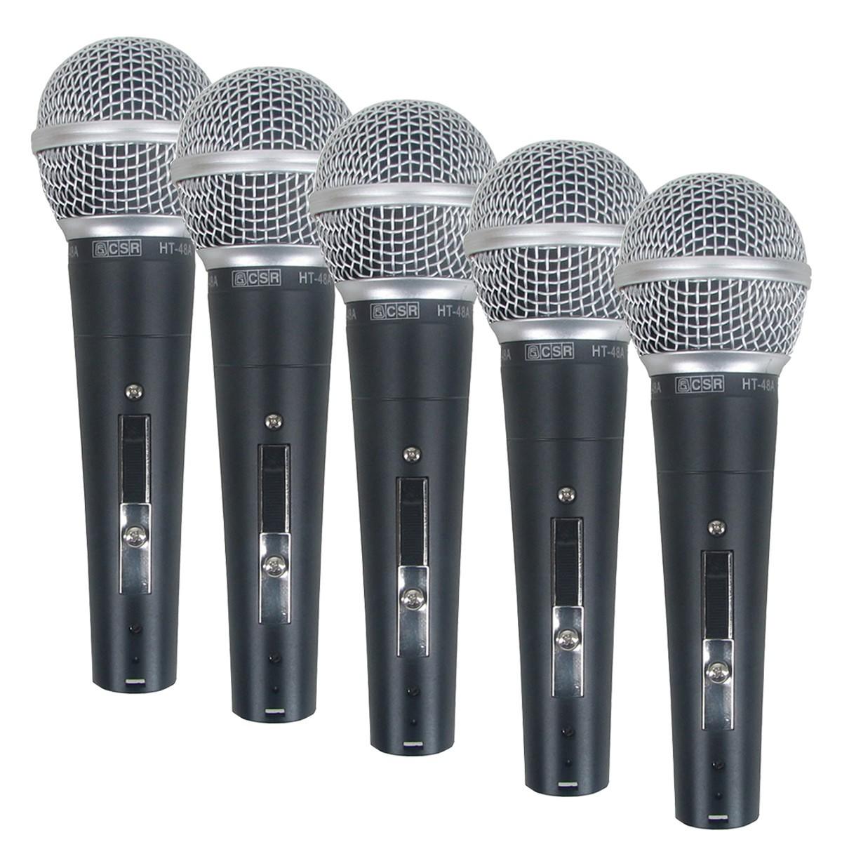 Microfone c/ Fio de Mão Dinâmico (5 Unidades) - 48-5 CSR