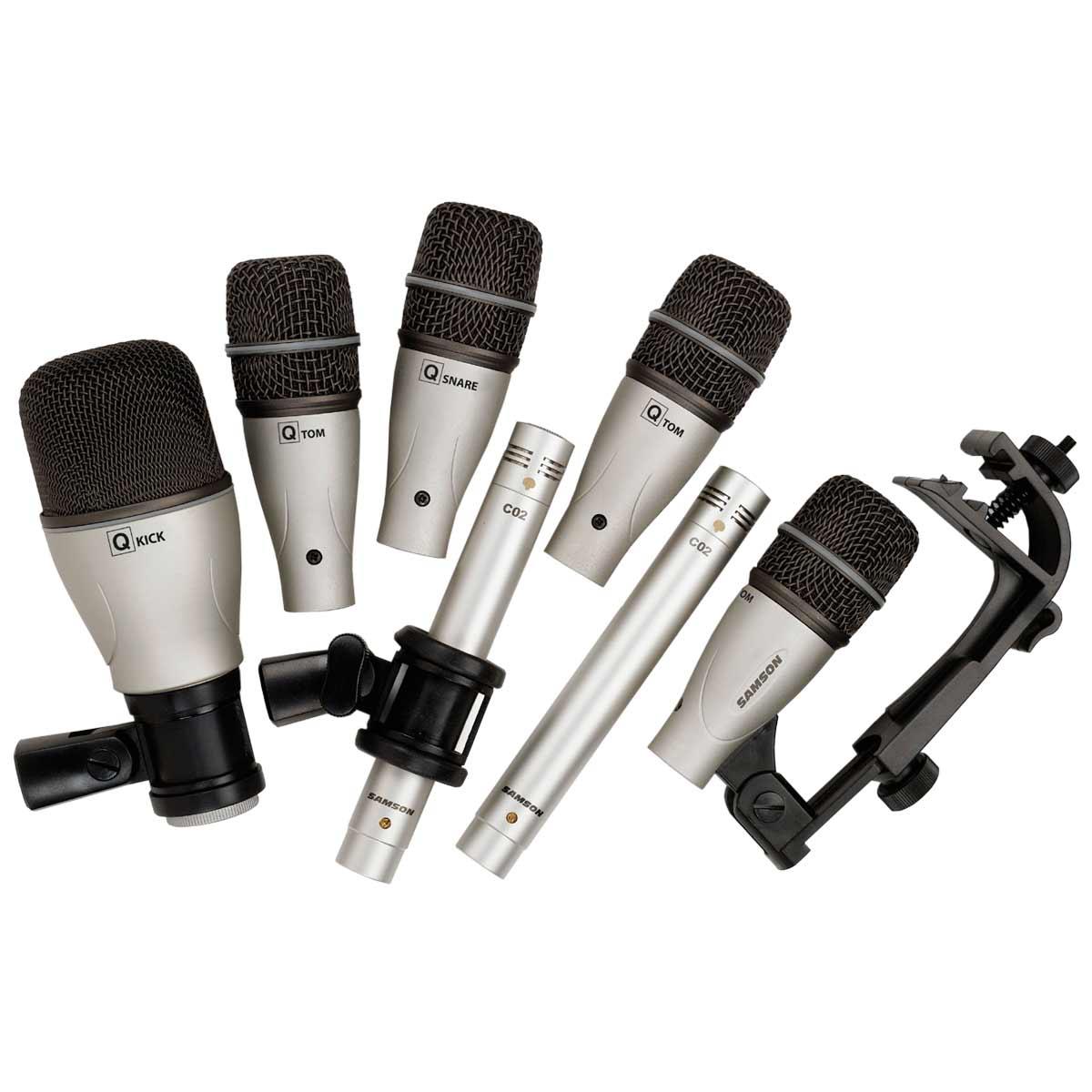 DK7 - Kit 7 Microfones c/ Fio p/ Bateria DK 7 - Samson