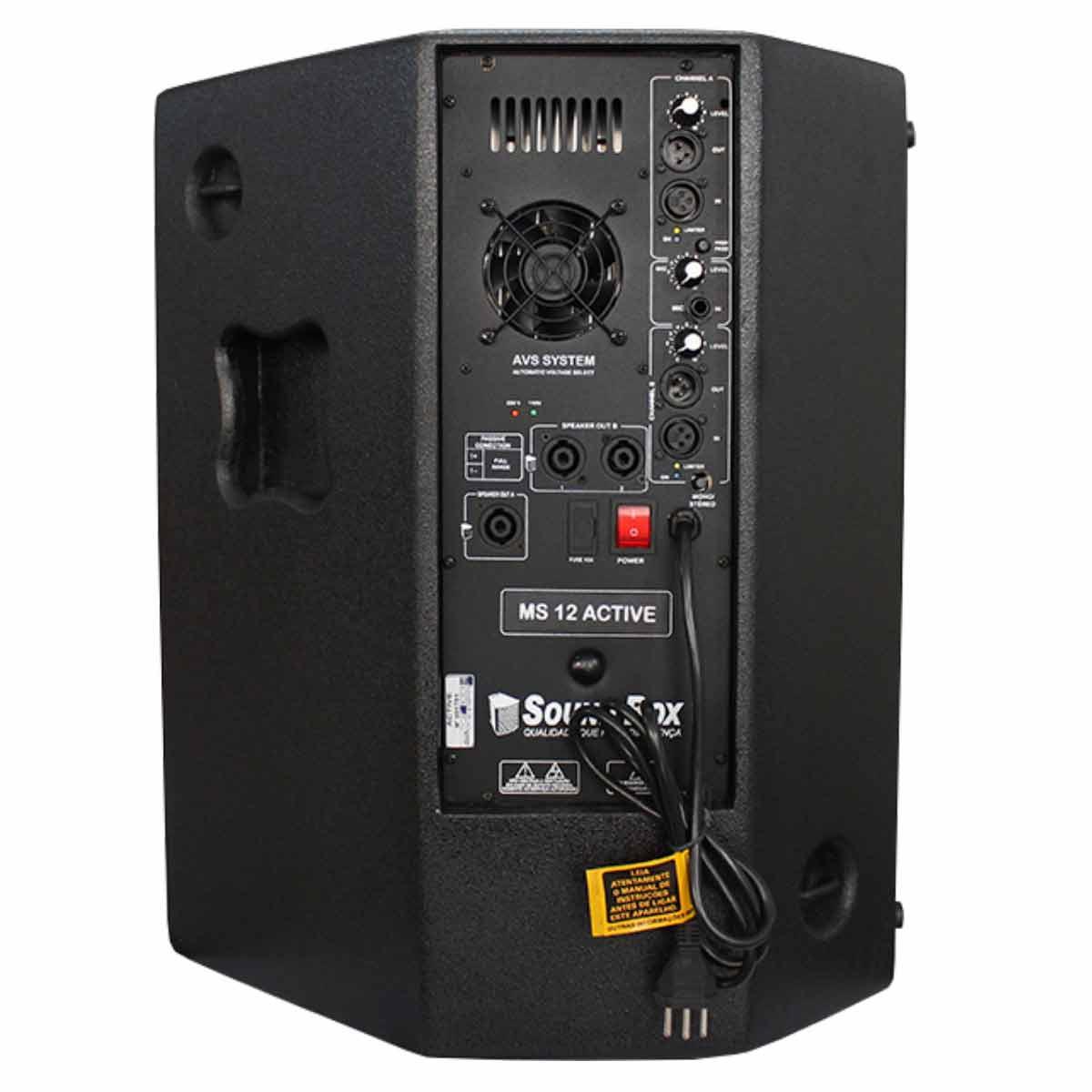Caixa Ativa Fal 12 Pol 500W PA / Monitor / FLY - MS 12 SoundBox