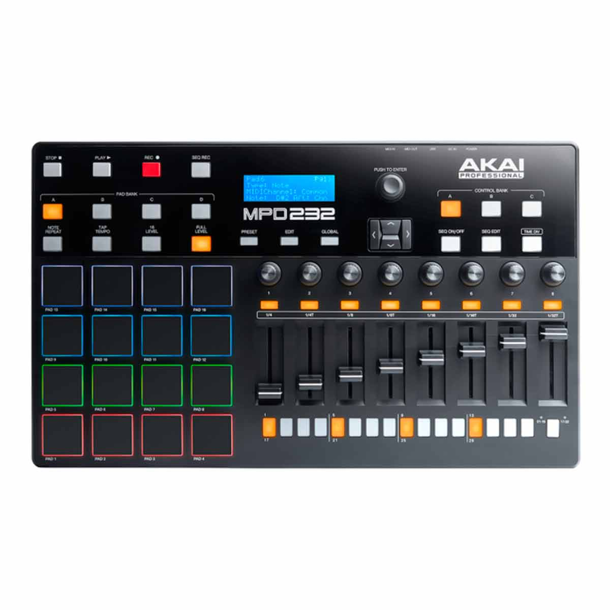 Controladora MIDI / USB MPD 232 - AKAI