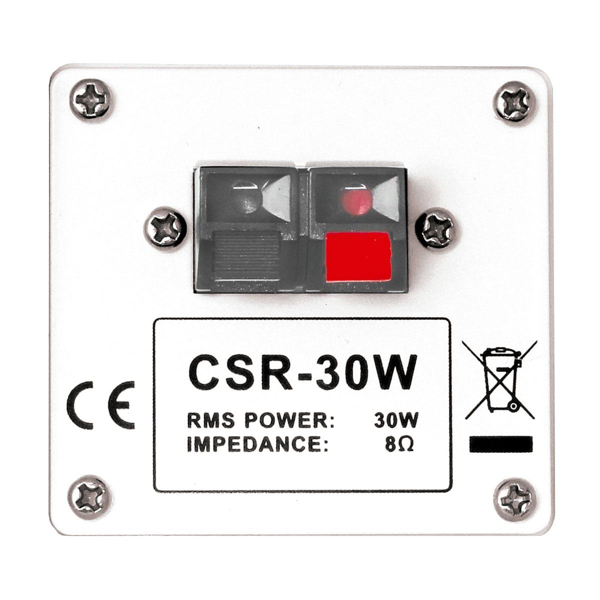 Caixa Passiva p/ Som Ambiente Fal 4 Pol 30W c/ Suporte (Par) - 30 W CSR