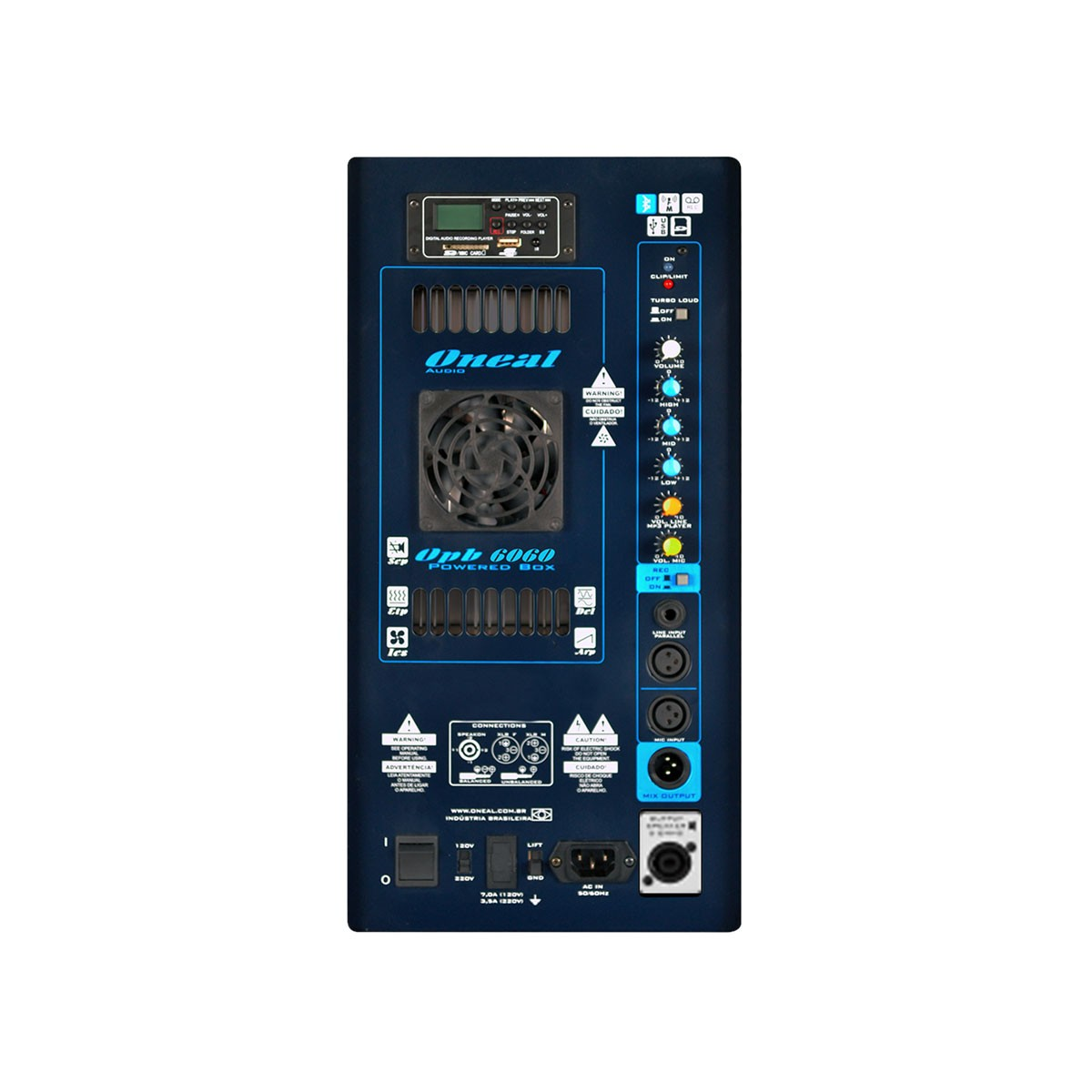 Caixa Ativa Fal 2x15 Pol 650W c/ USB / Bluetooth - OPB 6060 Oneal