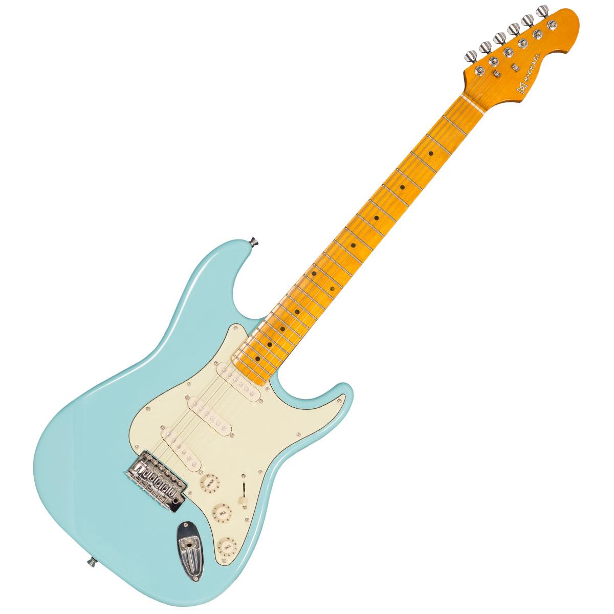 Guitarra Strato 6 Cordas 22 Trastes - Stonehenge GM 222 N LB Michael