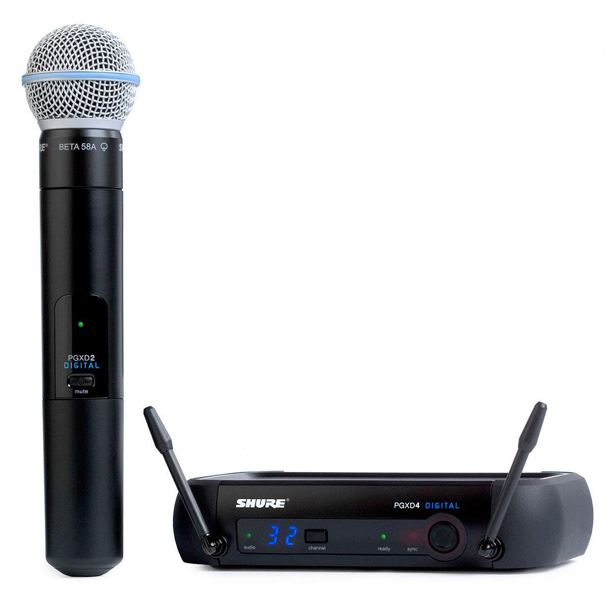 Microfone s/ Fio de Mão UHF PGXD 24 BETA 58 - Shure
