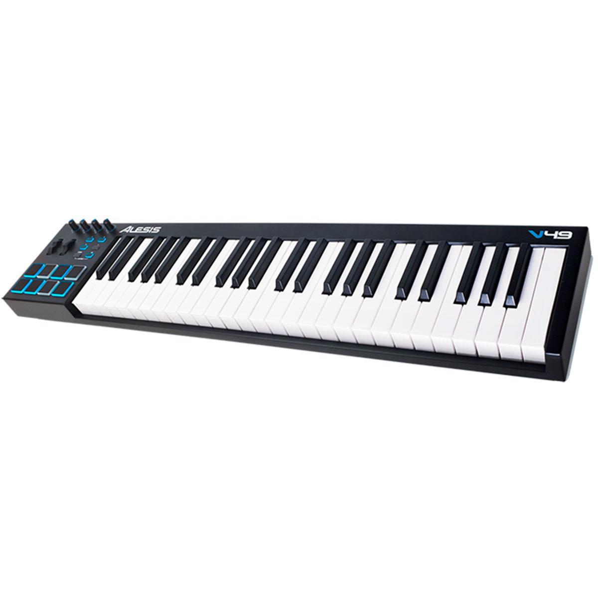 Teclado Controlador MIDI 49 Teclas c/ USB - V 49 Alesis