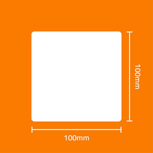 Etiqueta Adesiva BOPP Fosco Branca 100 x 100 x 01 - ID Etiquetas