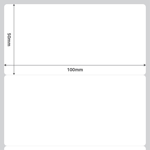 Etiqueta Adesiva BOPP Fosco Branca 100 x 50 x 01 (Grande Porte) - ID Etiquetas