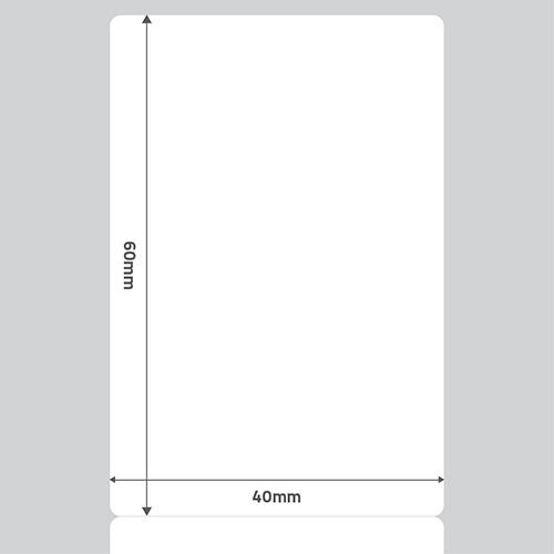 Etiqueta Adesiva BOPP Fosco Branca 40 x 60 x 01 - ID Etiquetas