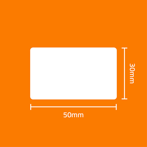 Etiqueta Adesiva BOPP Fosco Branca 50 x 30 x 02 (Grande Porte) - ID Etiquetas