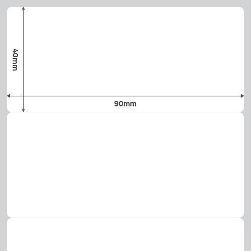 Etiqueta Adesiva BOPP Fosco Branca 90 x 40 x 01 (Grande Porte) - ID Etiquetas