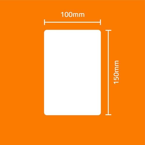 Etiqueta Adesiva BOPP Perolado Branca 100 x 150 x 01 - ID Etiquetas