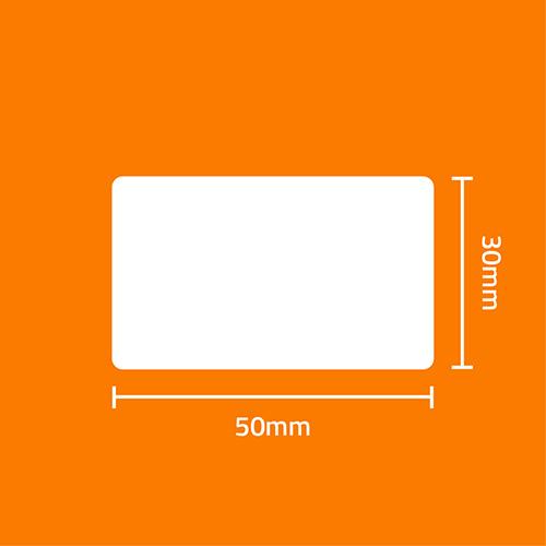 Etiqueta Adesiva BOPP Perolado Branca 50 x 30 x 02 (Grande Porte) - ID Etiquetas