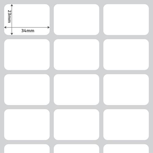 Etiqueta Adesiva Papel BOPP Perolado Branca 34 x 23 x 03 - ID Etiquetas