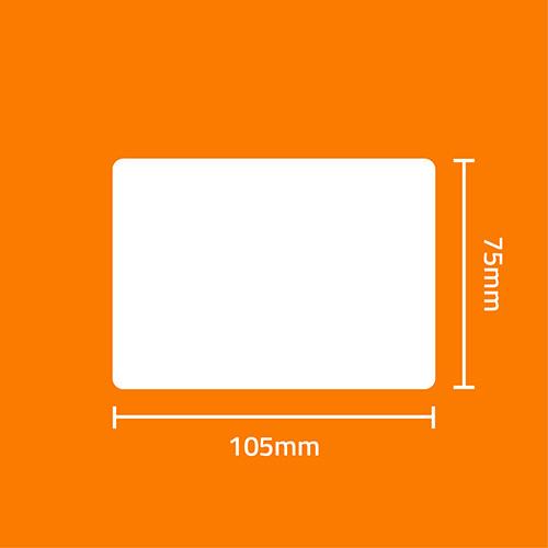 Etiqueta Adesiva Papel Couchê Branca 105 x 75 x 01 - ID Etiquetas