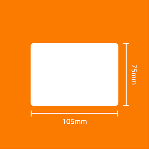 Etiqueta Adesiva Papel Couchê Branca 105 x 75 x 01 (Grande Porte) - ID Etiquetas