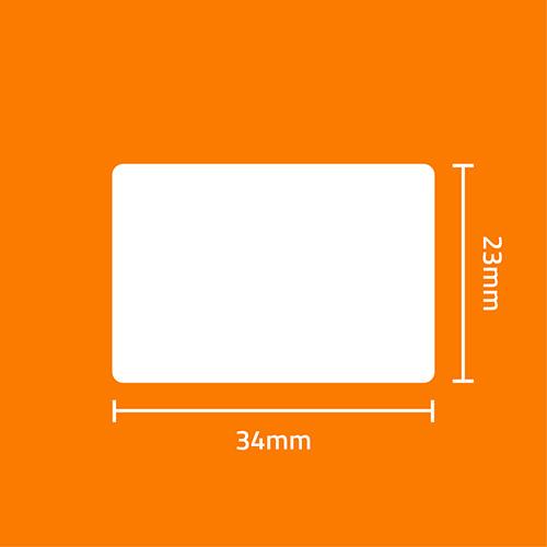 Etiqueta Adesiva Papel Couchê Branca 34 x 23 x 03 - ID Etiquetas