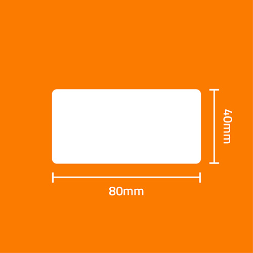 Etiqueta Adesiva Papel Couchê Branca 80 x 40 x 01 - ID Etiquetas