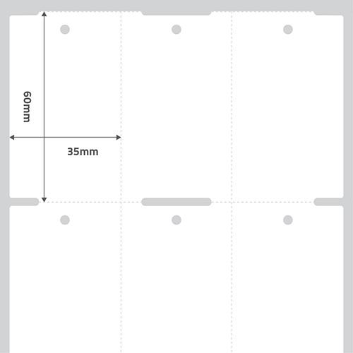 Etiqueta Adesiva Papel Couchê TAG Confecção Branca 35 x 60 x 03 (Grande Porte) - ID Etiquetas