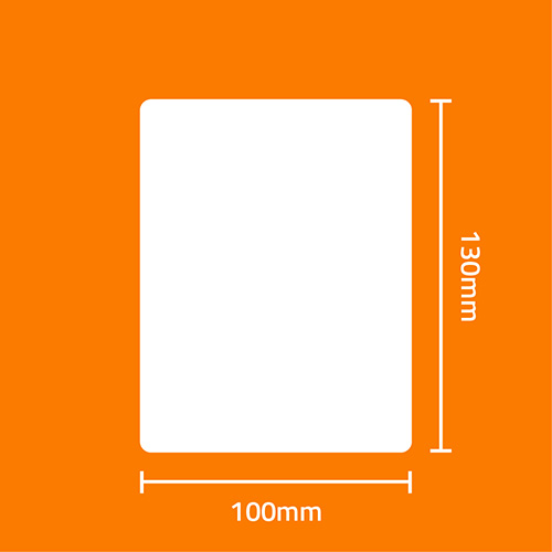 Etiqueta Adesiva Removível Papel Couchê Branca 100 x 130 x 01 (Grande Porte) - ID Etiquetas