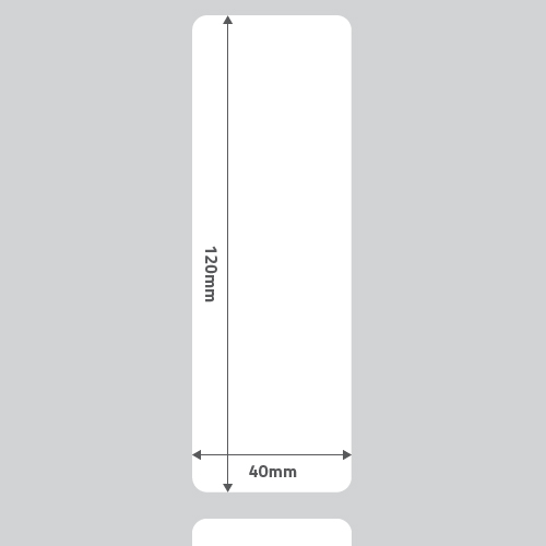 Etiqueta Adesiva Térmica Branca 40 x 124 x 01 - ID Etiquetas