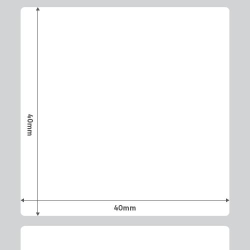 Etiqueta Adesiva Térmica Branca 40 x 40 x 01 - ID Etiquetas