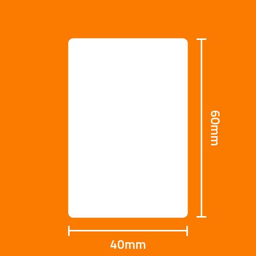 Etiqueta Adesiva Térmica Branca 40 x 60 x 01 - ID Etiquetas