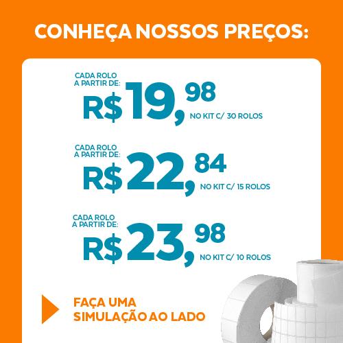 Etiqueta Cartão Papel Couchê TAG Gôndola Branca 100 x 30 x 01 - ID Etiquetas