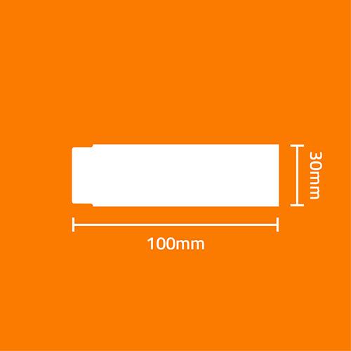 Etiqueta Couchê Cartão TAG Gondola Amarela 100 x 30 x 01 (Grande Porte) - ID Etiquetas