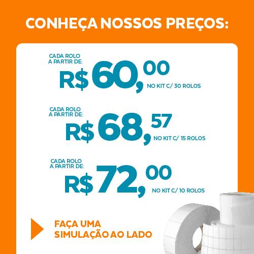 Etiqueta Couchê Cartão TAG Gondola Branca 100 x 30 x 01 (Grande Porte) - ID Etiquetas