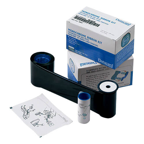 Kit Ribbon Monocromático Preto HQ SD260/SD360/SP35/SP55 - Datacard