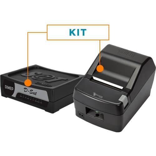 Kit SAT Fiscal D-SAT - Dimep + Impressora Não Fiscal Térmica DR800 - Daruma
