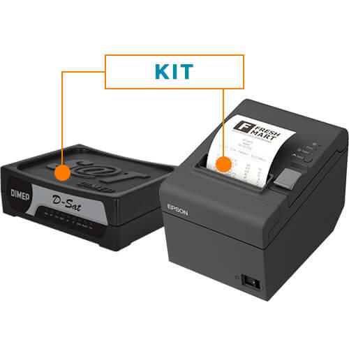Kit SAT Fiscal D-SAT - Dimep + Impressora Não Fiscal Térmica TM-T20 - Epson