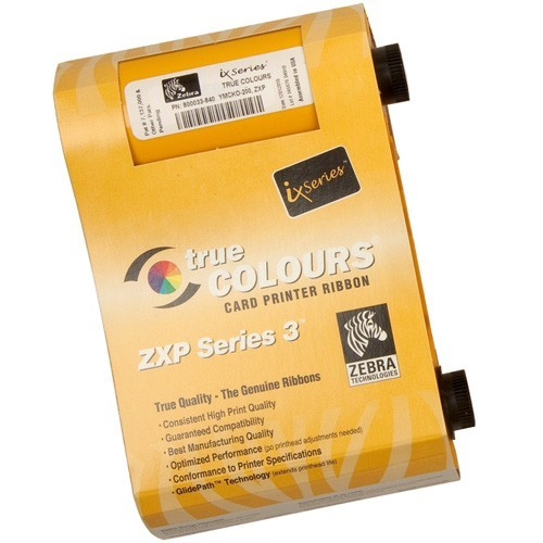 Ribbon Colorido YMCKOK ZXP Série 3 - Zebra