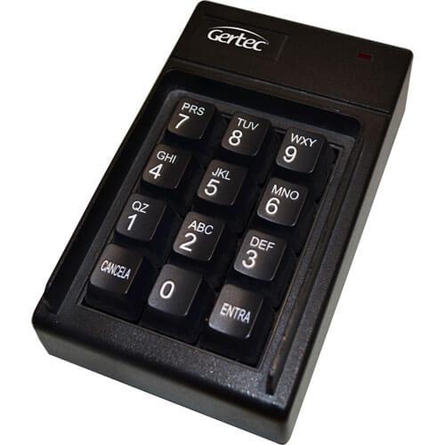 Teclado Não Programável Pin Pad Fone USB Preto - Gertec