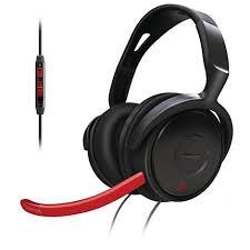 Fone de Ouvido Philips Gamer SHG7980 / 10 - Audio Digital c / Mic Redutor de Ruídos e Controle no Fio.