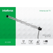 Antena Externa UHF Para TV Digital AE 1028 IntelBras