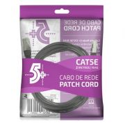Cabo de Rede Patch Cord Cat5e FTP 2M Bindado 5+ (Preto)