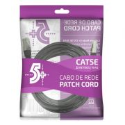 Cabo de Rede Patch Cord Cat5e FTP 5M Bindado 5+ (Preto)