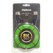 Cabo HDMI Gold 2.1 - 8K HDR 19+1P CH 2120 2M IntelBras (Blister)