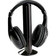 Fone De Ouvido S/ Fio Wireless 5x1 - Mp3, Pc, Tv, Dvd, Fm, Skype.