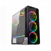 Gabinete Gamer Atx K-Mex Infinity 4 CG-04G8 c/kit RGB + Fita Led - Sem Fonte