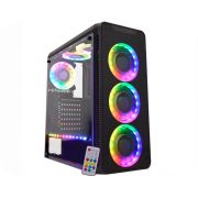 Gabinete Gamer Atx K-Mex Infinity 5 CG-05G8 c/kit RGB + Fita Led - Sem Fonte