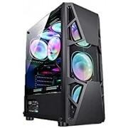 Gabinete Gamer Atx Maxxtro 3303 c/4 Fans RGB - Sem Fonte